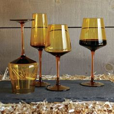 Love this Smoked Glassware Set | west elm... Now if they only still had it.