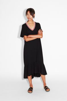Bottom ruffle tee dress