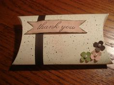 Pillow Box Thank you