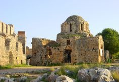 The Byzantine era Church of Saint George inside Alanya Castle in Turkey, dates back to the or century. Dome Structure, Turkey Travel, Byzantine, Beach Resorts, Barcelona Cathedral, Monument Valley, Mount Rushmore, Medieval, Castle