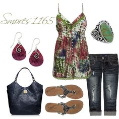 """""""Tie Dye Cami"""" by smores1165 on Polyvore"""