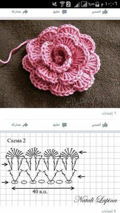 Best 12 Mini Carnation Flower Pattern by Happy Patty Crochet – Page 432064158001503029 – SkillOfKing. Crochet Motif Patterns, Crochet Diagram, Crochet Chart, Crochet Stitches, Knitting Patterns, Crochet Leaves, Crochet Flowers, Confection Au Crochet, Crochet Hair Accessories