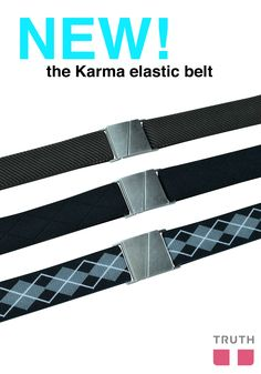The Karma flat belt is here! Keep your tummy flat with this special buckle. $28.00 www.truthbelts.com