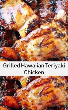 Here's grilled hawaiian teriyaki chicken recipe, best recipe of chicken. Chicken Thigh Grill Recipes, Grilled Chicken Thighs, Chicken Recipes, Beef Recipes, Hawaiian Teriyaki Chicken Recipe, Chicken Teriyaki Recipe, Teriyaki Sauce, Grilling Recipes, Cooking Recipes