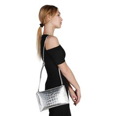 S/S Collection - Women's bag - Clutch - Removable shoulder strap, zip fastening, 2 compartments - Inside: zipped pocket, patch pocket - Composition: outside: leather; lining: CO - Size: cm - Including dustbag Dust Bag, Shoulder Strap, Clutch Bags, Leather, Pocket, Zip, Shopping, Check, Women