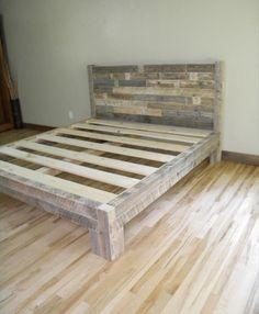 Unique diy pallet bed frame ideas (37)