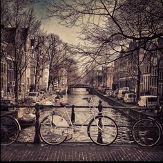 Amsterdam, city of bycicles and canals # Places Around The World, Oh The Places You'll Go, Travel Around The World, Places To Travel, Places To Visit, Around The Worlds, Taj Mahal, To Infinity And Beyond, Ansel Adams