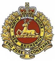 Insigne de The North Shore (New Brunswick) Regiment Military Units, Military Police, Military Aircraft, Canadian Army, British Army, New Brunswick, North Shore, Coat Of Arms, Armed Forces