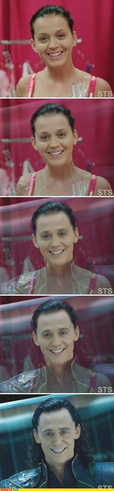 Funny pictures about Katy Perry is Loki. Oh, and cool pics about Katy Perry is Loki. Also, Katy Perry is Loki photos. Katy Perry, Tom Hiddleston, Funny Photoshop, Fandoms, Karen, Asgard, Just For Laughs, Laugh Out Loud, The Funny