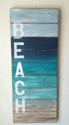 100 Cheap and Easy Coastal DIY Home Decor Ideas is part of Coastal beach decor - wood Painting Sunset Pallet Art 100 Cheap and Easy Coastal DIY Home Decor Ideas Beach Cottage Style, Coastal Cottage, Beach House Decor, Coastal Style, Coastal Decor, Beach Room Decor, Coastal Living, Nautical Style, Modern Coastal