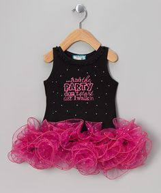 Black 'Party Don't Start' Tutu Dress - Infant, Toddler & Girls by Born 4 Couture on #zulily