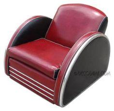 Jazz Art Deco Club Chair Circa 1980's