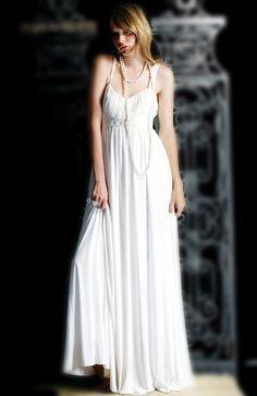 Empire White Floor-length Sleeveless Homecoming Dresses - Wedding Dresses