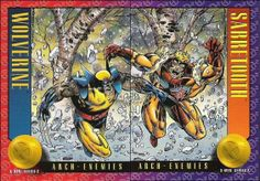 SKYBOX  X-MEN HEROES AND VILLAINS SERIES 2 [1993]