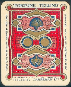 Fortune Telling cigarette card - Back