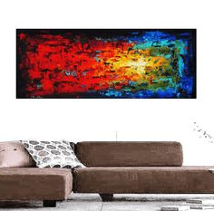 "art painting large painting 72"" x30""  abstract painting , from jolina anthony signet  express shipping"
