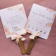 wedding program fans  ~  we ❤ this! moncheribridals.com