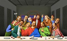 Selfie: Satirical Illustrations Of Religious People By Gunduz Agayev Holy Selfie: Satirical Illustrations Of Religious People By Gunduz Agayev Selfies, Caricatures, Satire, 4 Image, Tgif Funny, Hilarious, Satirical Illustrations, Religious People, Photocollage