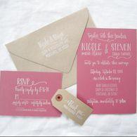 Wedding Invitation Stamp Suite - Scribble