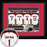 St. Louis Cardinals Personalized Locker Room Jersey Framed Print 1518 Inch Customized Art