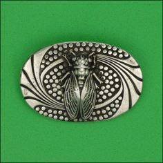 French Vintage Silver Cicada Insect Pin
