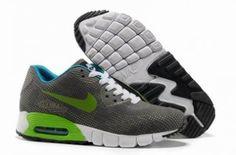 Nike Air Max 90 ( talla ) Cultura gris / verde / blanco http://www.esnikerun.com/