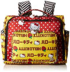 Ju-Ju-Be 14FM02HK-HSS-NO SIZE Bff Hello Kitty - Wickeltasche, Wickelrucksack und Umhängetasche, 35.5 x 16.5 x 30.5 cm, Strawberry Stripes #baby #kinder #babygift #gift #geschenk #babyshower #babyboom #geburt #geburtstag #kindergeburtstag #tasche