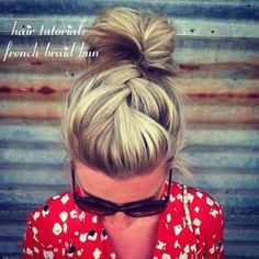 Hair Tutorial: French Braid Bun! MUST TRY! JOIN http://bellashoot.com for more amazing hair do's! #howto #tutorial