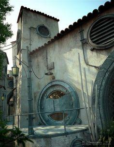 Lisää tyypillistä arkkitehtuuria Siirtokunnasta.