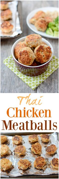 These gluten-free Thai Chicken Meatballs are bursting with fresh Asian flavors and are perfect for a quick, easy lunch or dinner. Make a batch during your next food prep session and enjoy them warm or cold!
