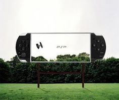 Sony PSP - Guerilla marketing billboard, telling you that's the high resolution of the screen technology hv been improved. wad do  you think of it ?