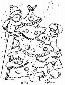Children at Christmas coloring pages printable games Garden Coloring Pages, Tree Coloring Page, Pattern Coloring Pages, Free Printable Coloring Pages, Coloring Book Pages, Colorful Christmas Tree, Christmas Colors, Christmas Coloring Pages, Christmas Scenes