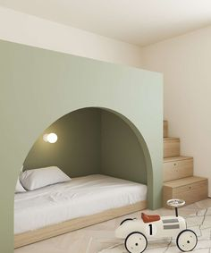 This Modern Scandinavian-Style Apartment is a Lesson in Warm Minimalism. This Modern Scandinavian-Style Apartment is a Lesson in Warm Minimalism. It is clean and elegant, and I am loving it! Copenhagen Apartment, Modern Kids Bedroom, Modern Kids Beds, Modern Kids Furniture, Cool Kids Bedrooms, Kids Bedroom Furniture, Furniture Showroom, Steel Furniture, Vintage Furniture