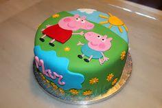Pasteles, repostería, tartas, postres, delavera Angry Birds Birthday Cake, Peppa Pig Birthday Cake, Bithday Cake, Cake Designs For Kids, Cake Tutorial, Fondant Cakes, Party Cakes, No Bake Cake, Cake Decorating