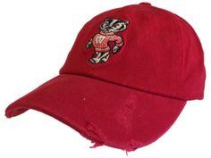 Wisconsin Badgers Retro Brand Red Secondary Rugged Flexfit Slouch Hat Cap
