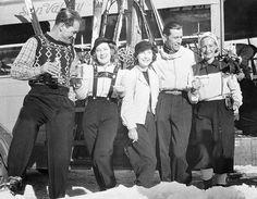 Norma Shearer Sun Valley skiing circa 1939