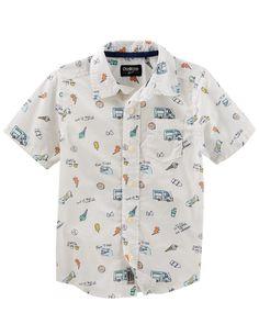 9898a25340b Boys  short-sleeve henley shirt in tropical print   t-shirts   polos ...