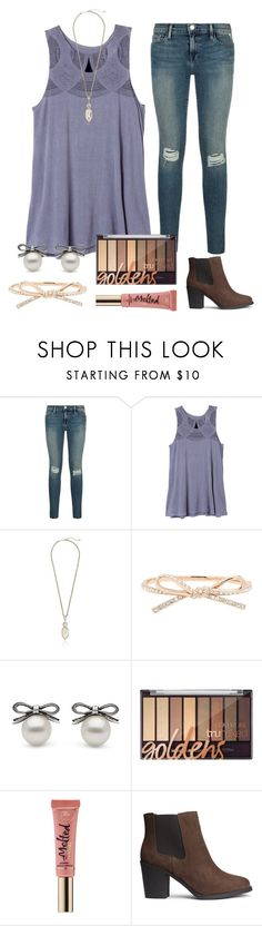 """""""Oh happy day"""" by tjrsis ❤ liked on Polyvore featuring RVCA, Kendra Scott, Kate Spade, Too Faced Cosmetics and H&M"""