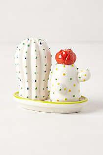 Anthropologie - Cacti Salt & Pepper Shakers