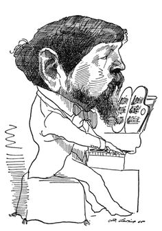Claude Debussy by David Levine Satire, France, Ballet, Black Wood, Classical Music, Art Music, Pencil Drawings, David, Framed Prints