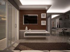Se tudo der certo vai ficar assim. Decoração e iluminação de sala em apartamento pequeno. Projeto: Fabiano Zequinão