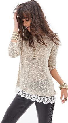 deal: knit & lace sweater -- $19.80