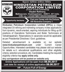 HPCL Technician Vacancy 2017 www.indgovtjobs.in
