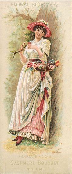 Colgate's Cashmere Bouquet Perfume advertising bookmark, 1900s