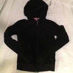 Juicy couture full zip hoodie Black, velour hoodie by Juicy Couture. Juicy Couture Tops Sweatshirts & Hoodies