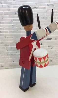 Kay Bojesen Vintage Danish Modern Wood Toy Soldier Denmark Royal Guard Drummer | eBay
