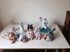 Group photo of my sculptures.