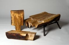 so neat...it's only 3 pieces of wood that fit together to make a chair.