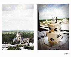 Walt Disney World Wedding: Erin + Alex - Disney wedding cake