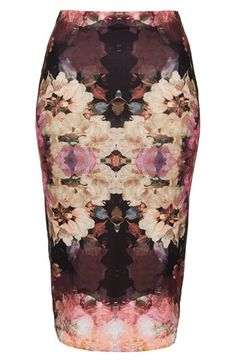 Topshop 'Bruised Floral' Print Tube Skirt | Is it spring yet?
